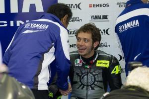 Foto Valentino Rossi Test Drive Yamaha YZR M1 2013