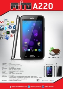 Spesifikasi Harga HP Mito A220