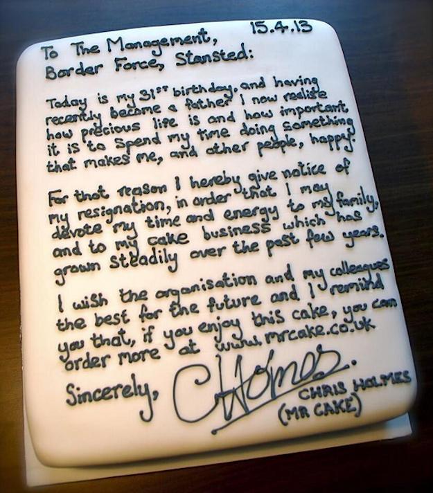 Kue Unik Untuk Resign [Mengundurkan Diri]